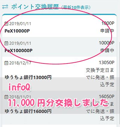 infoQ交換依頼