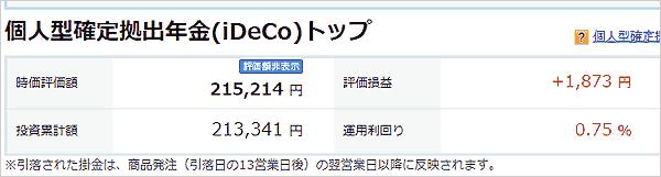 3月4日iDeCoの損益