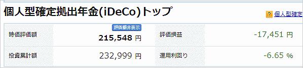 4月30日iDeCoの損益