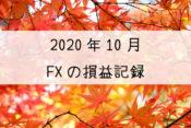 2020年10月のFXの損益記録
